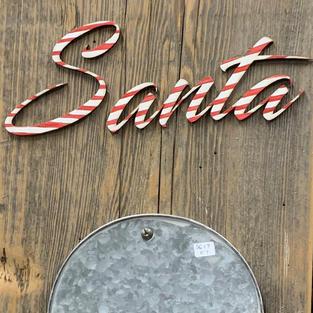 Santa List with Bucket - 12x30