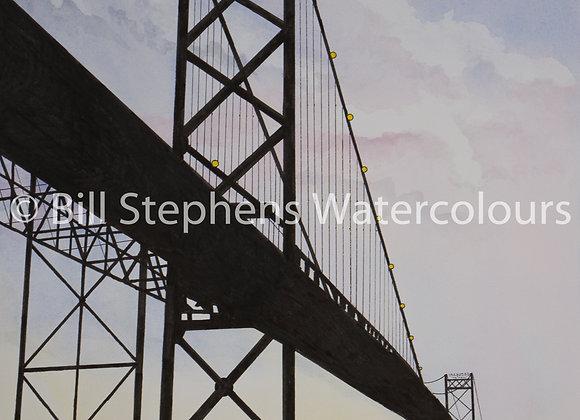 Original Watercolour - Ambassador Bridge - Windsor Collection