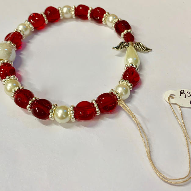 Angel Bracelet - Red / Pear / Silver