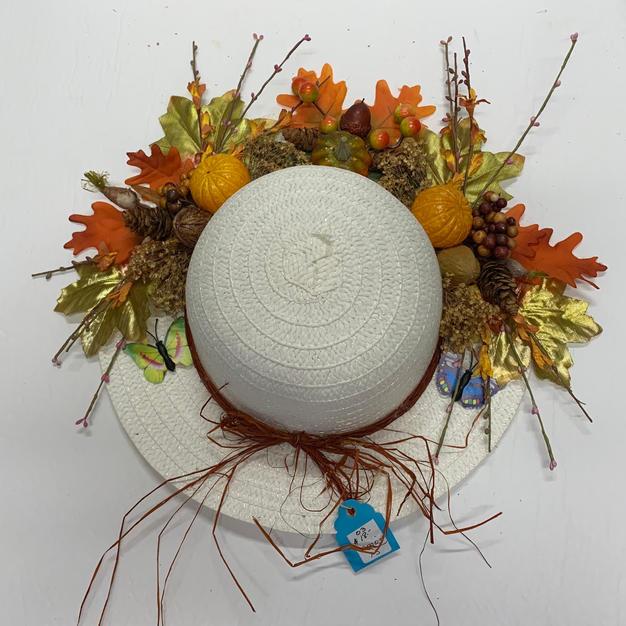 Welcome Hat - White Straw Hat