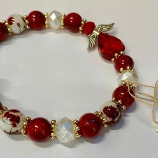 Angel Bracelet - Red / Crystal / Mottled Red