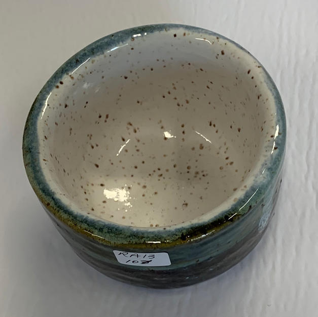 Pottery Bowl #107 - TOP VIEW