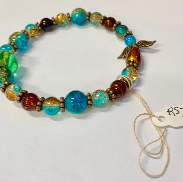 Angel Bracelet - Green / Blue / Copper