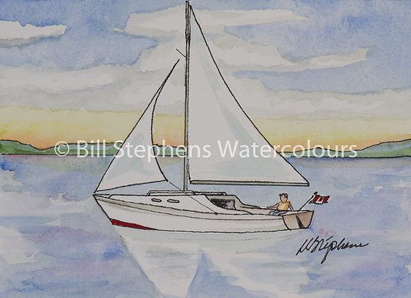 Original Watercolour Painting - Sailboat