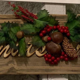 Chestnuts Roasting Sign - 6 x 30
