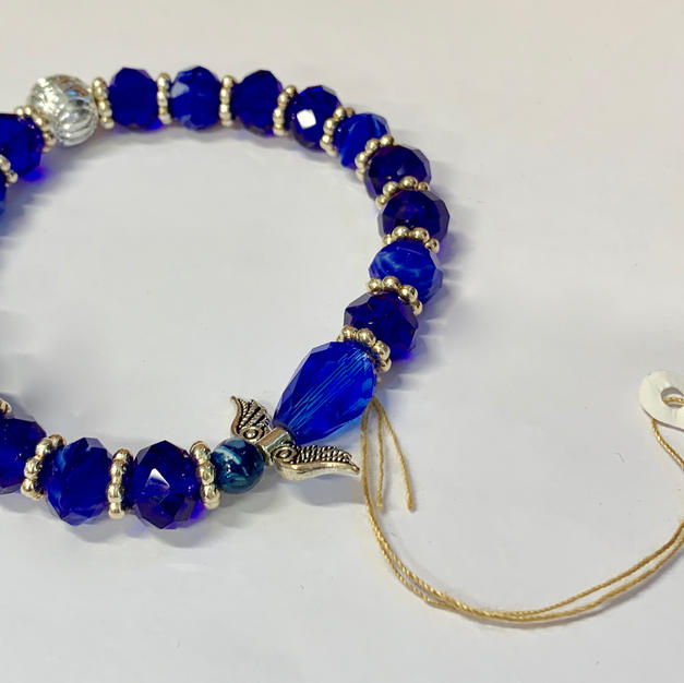 Angel Bracelet - Dark Blue / Crystal