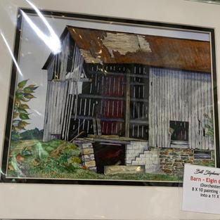 Barn at Elgin & Catherine - Original Watercolour - (11x14)