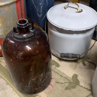 Chamber Pot and Brown Jug