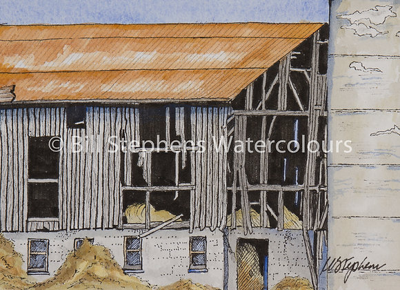 Original Watercolour Painting -Elgin County Barn