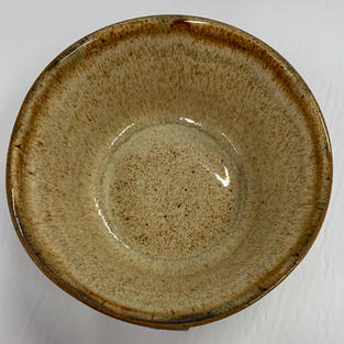 Pottery Bowl #115 - TOP VIEW