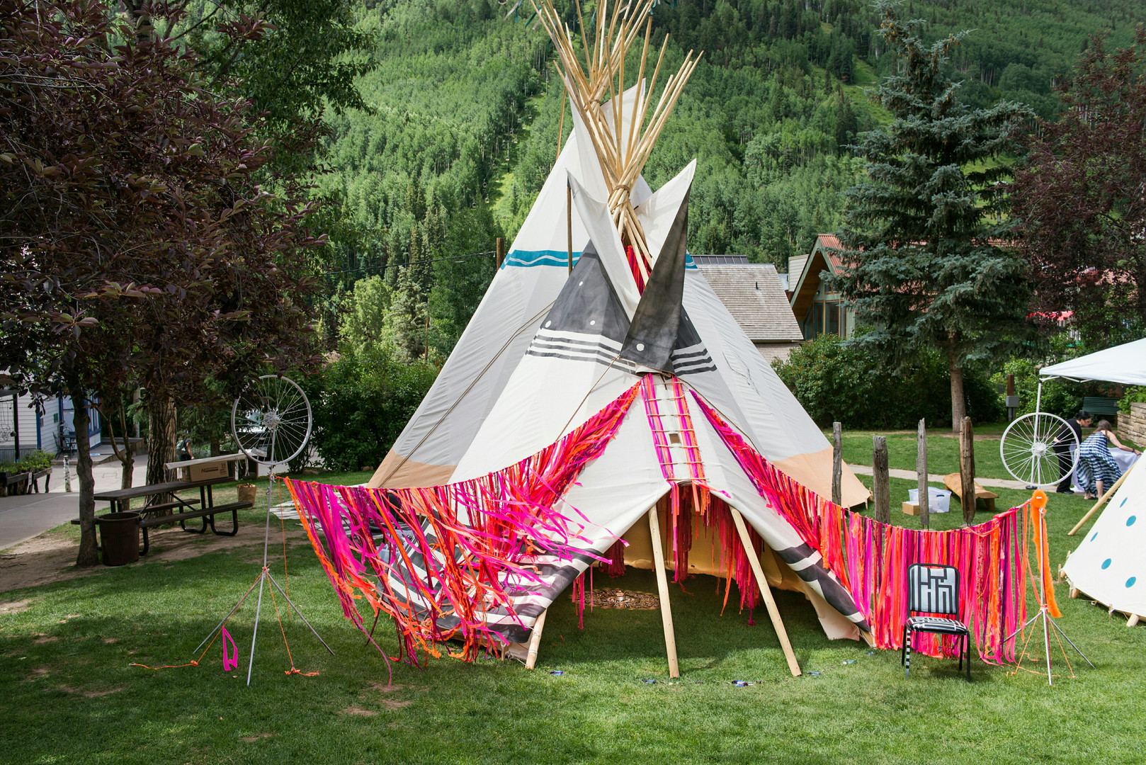 Wayout West Installation Tipi Exterior Full View