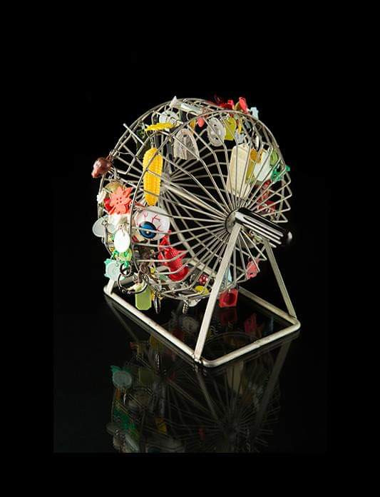 Mixed Media Assemblage Roundabout