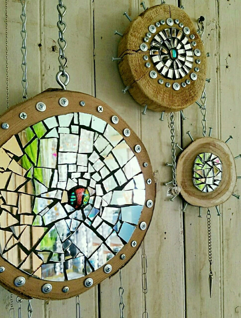 Mosaic Mirrored Dreamcatchers