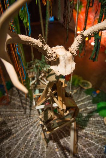 Be Unbroken Installation Deer and Mandala