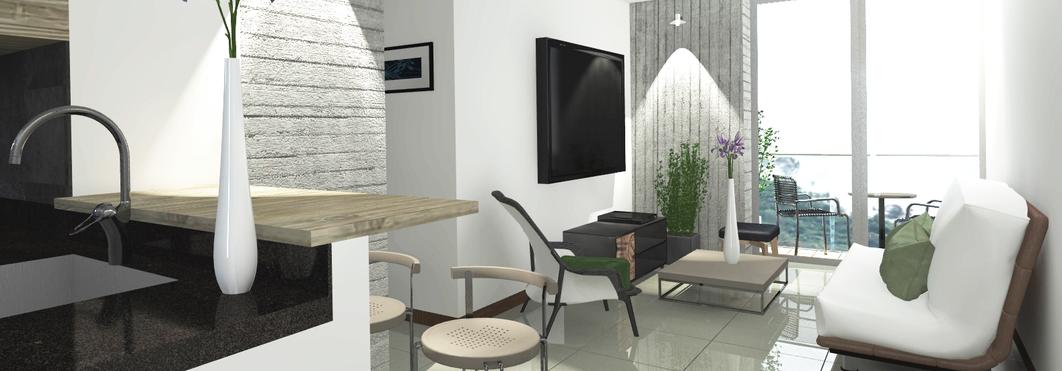 Render edificio de apartamentos