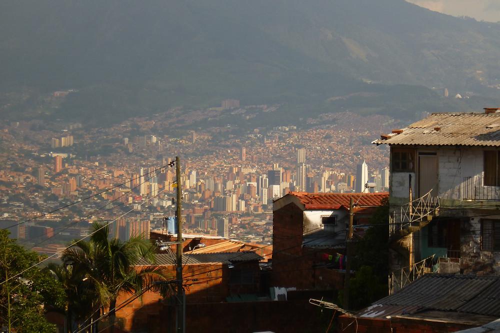 Paisaje de Medellín desde el Barrio