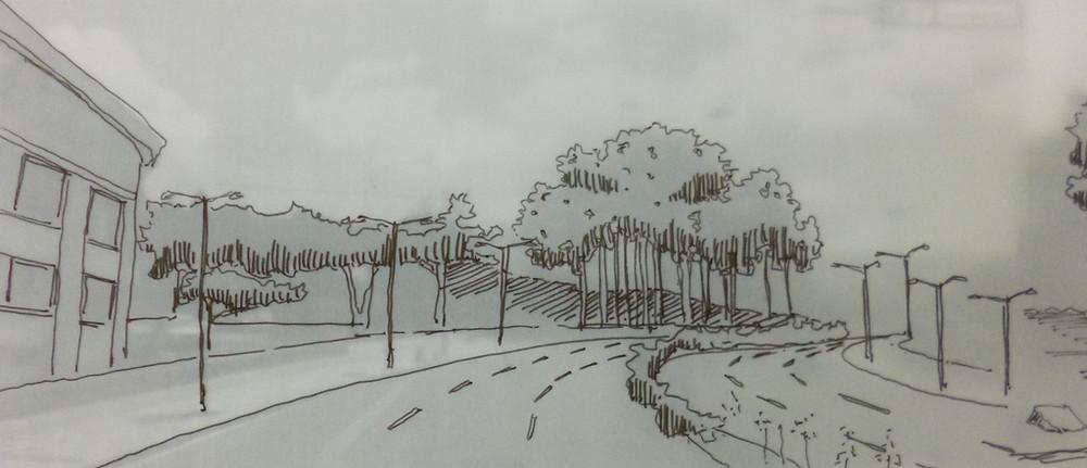 Sketch carrera 80 Medellín