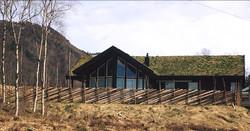 Skigard ved hytte