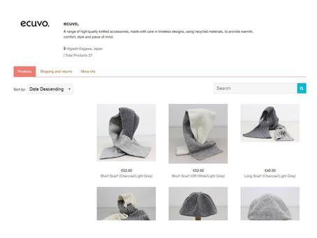 ecuvo,がECO FASHION LABELにて販売されます-ecuvo, will be sold at ECO FASHION LABEL