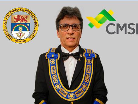 SERENÍSSIMO GRÃO MESTRE DA GLMPE PARTICIPA, EM BRASÍLIA, DA CONFERÊNCIA DOS GRÃOS-MESTRES DA CMSB.