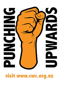 punching upward fist for workers rights