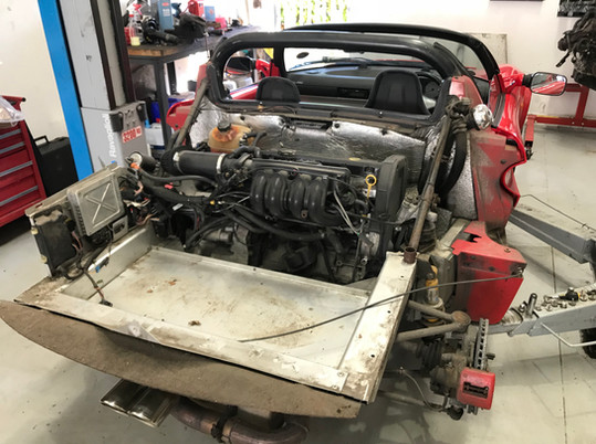 Rover Engine ready for removal