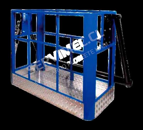 Canastillo alzahombre o Capacho, biplaza de acero, marca Ormet, modelo CES 2MF color azul