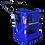 Canastillo o Capacho Alzahombre de Fibra de Vidrio, marca Ormet, modelo CES 1VE, aislado y certificado, color Azul PM