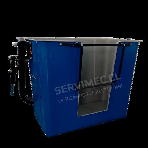 Canastillo biplaza MC 2V Fibra de vidrio, aislado y certificado.