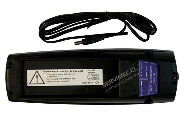 Cargador de baterías type 434 para baterías 592, 12 ó 24 V, para transmisores RC400 Mini y Maxi.