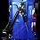 Canastillo o Capacho Alzahombre de Fibra de Vidrio con freno hidráulico, marca Ormet, modelo CES 1VE, color Azul PM