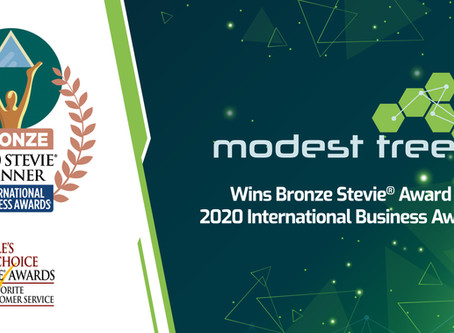 Modest Tree Wins Bronze Stevie® Award in 2020 International Business Awards®