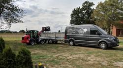 Ausrüstung für den Abtransport