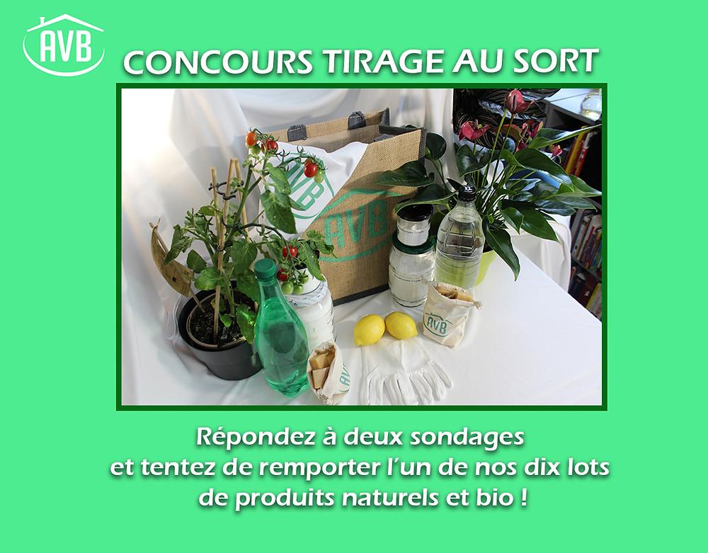 Gagnez vos lots de produits naturels !