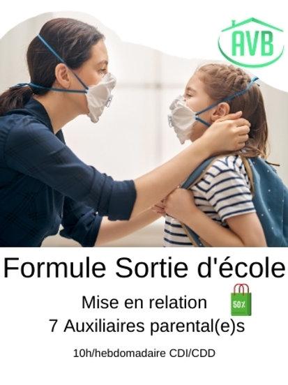 Formule Sortie d'école | 10h/H CDC ou CDI