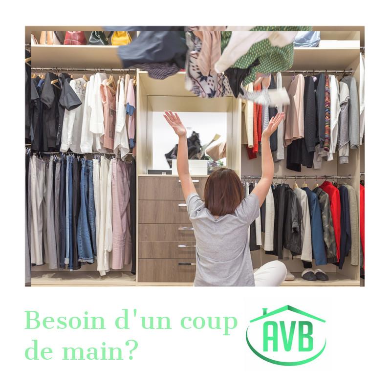 dressing, nettoyage, désinfection, vêtements, rangement, trier, recyclage