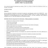 AVB - Déclaration Société de Services à la Personne