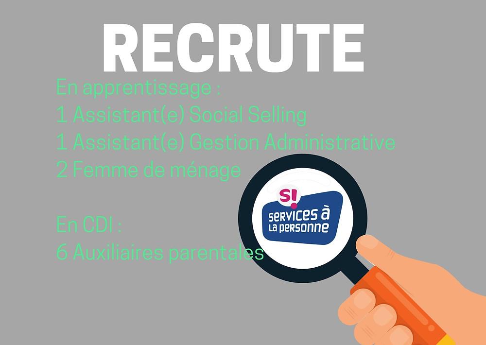 AVB recherche des Femme de ménage, garde d'enfants, assistante de vie, social selling en alternance, services à la personne, pour son agence de paris, paris13,