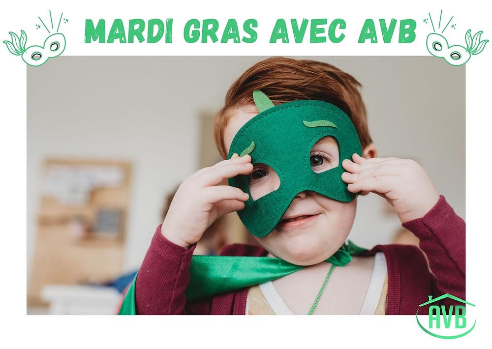masque enfants déguisements joie mardi gras