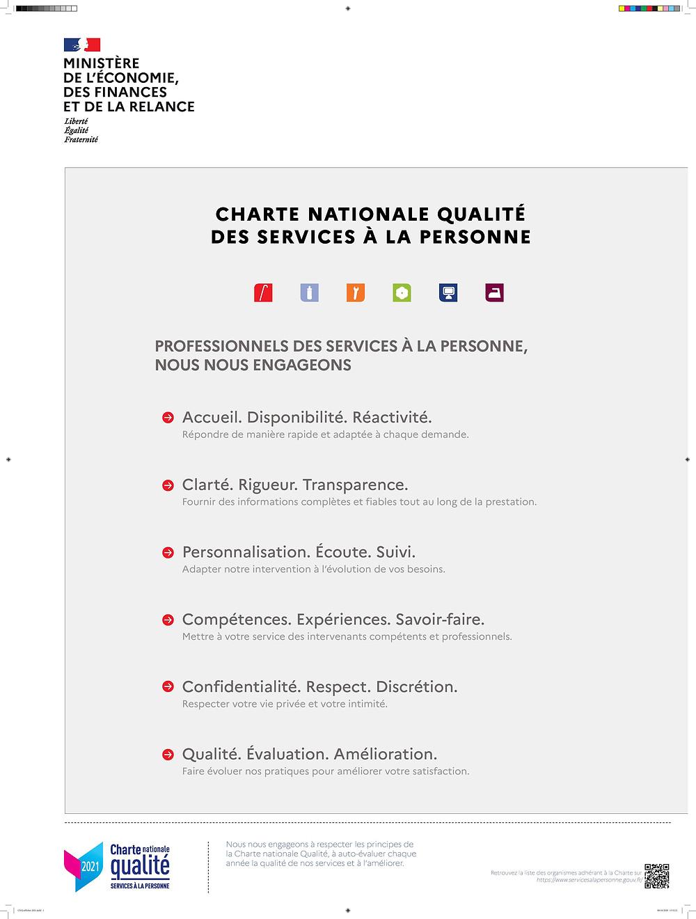 A Votre Bonheur a fait sa demande d'adhésion à la Charte nationale Qualité des services à la personne.