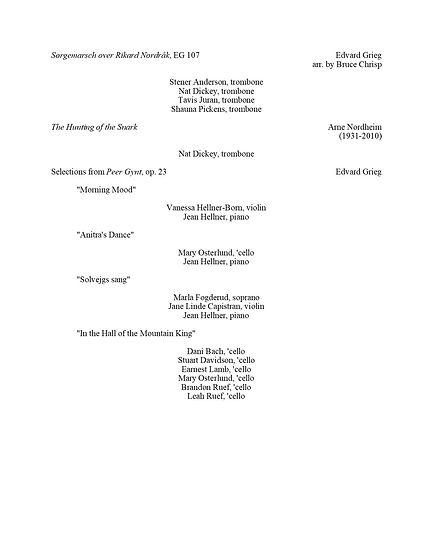 Norwegian Chamber Music Program Page 2.j