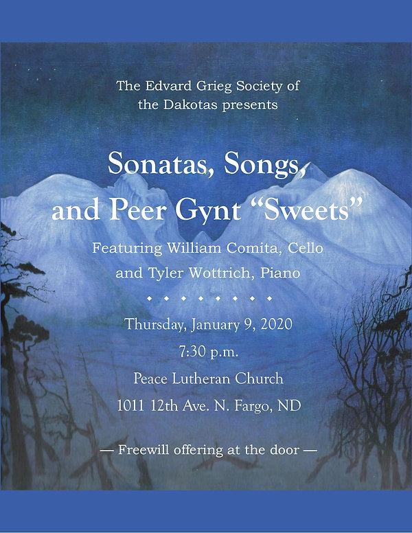 Edvard Grieg Society January 2020 Concer