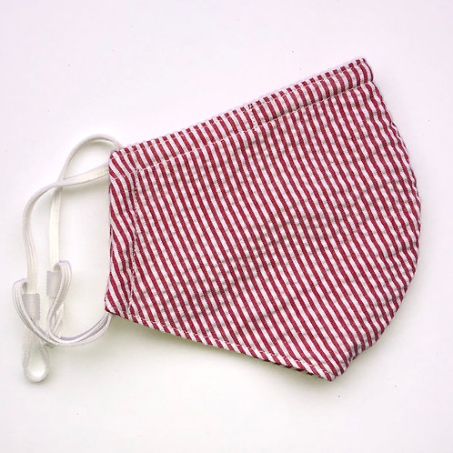 Seersucker Red Stripes
