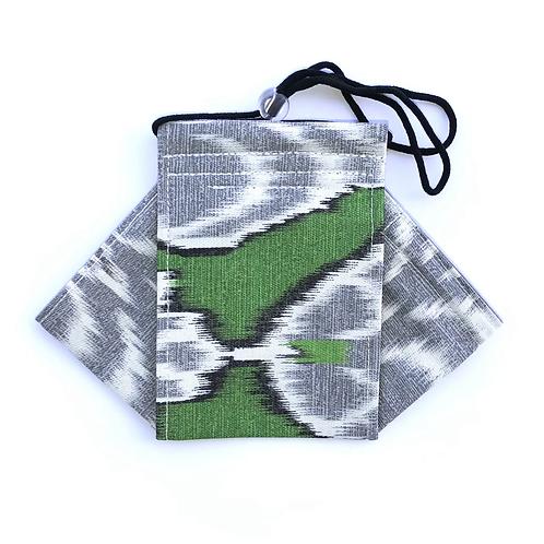 Ikat- kelly green Origami