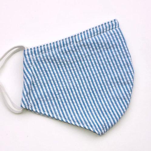 Seersucker Blue Stripes