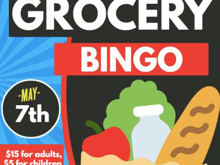 RHVFC Grocery Bingo on May 7th, 2021
