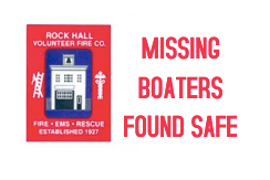 RHVFC assists with rescuing 2 missing boaters.