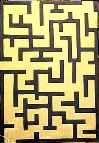 Black and Gold Maze
