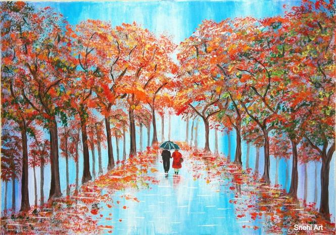 Rainy walk by Snehita