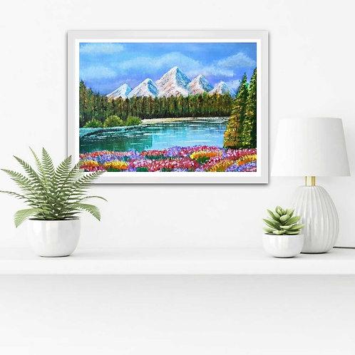 Mountain Lake by Snehita